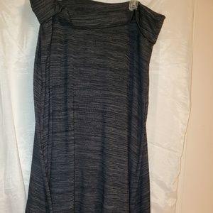 High-lo activewear jersey skirt